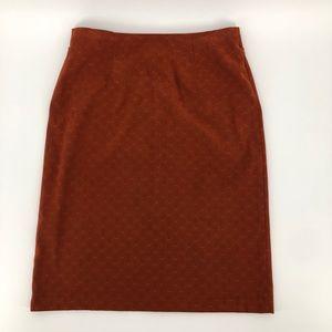 Vintage Courtenay Imitation Suede Pencil Skirt